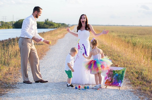 Trash the dress met kinderen