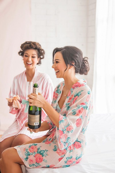 Bruid in pyjama