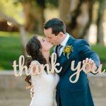 Huwelijkscadeaus bedankje