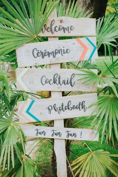 Tropical thema bruiloft