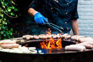 Barbecue op bruiloft