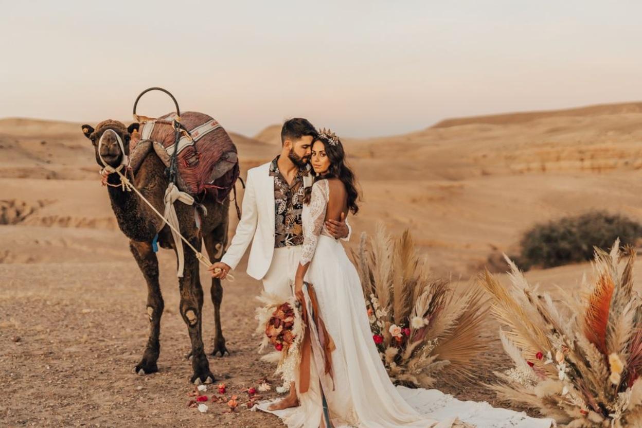 Islamitisch huwelijk in de woestijn