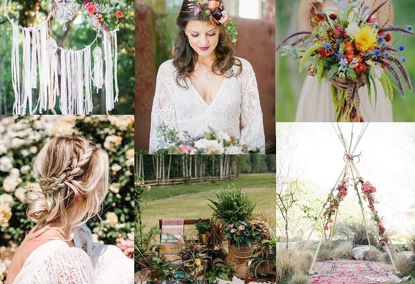 Bohemian bruiloft inspiratie