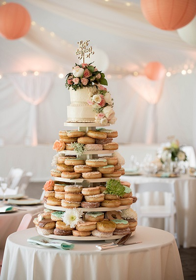 Donut bruidstaart