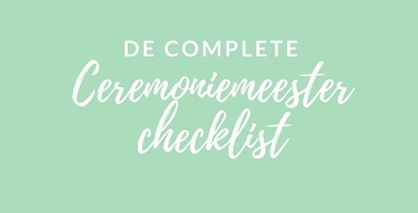 Ceremoniemeester checklist