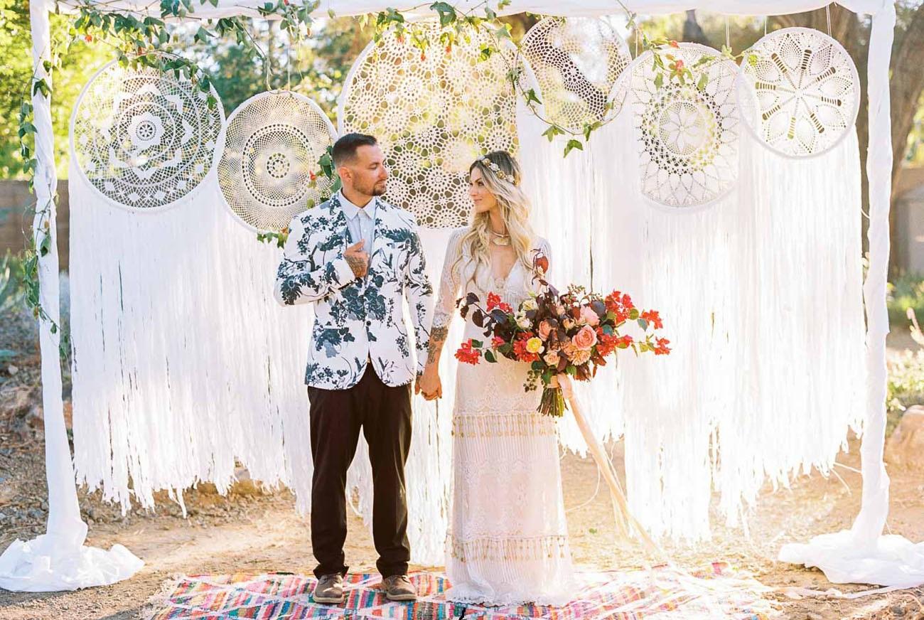 Dromenvangers als bruiloft decoratie