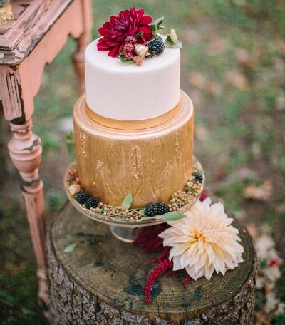 Gouden bruidstaart