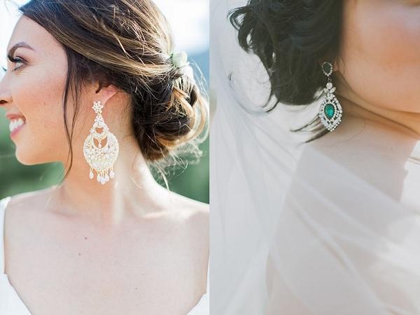 Bruiden met hangende oorbellen