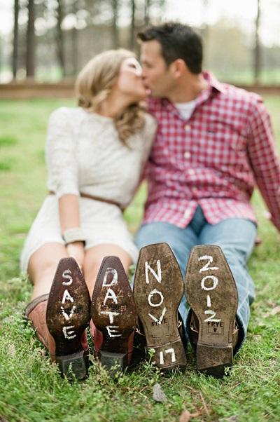 Save the date op schoenen