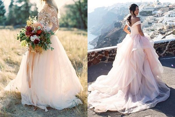 Licht Roze Jurkje : Licht roze prinsessenjurk als trouwjurk bruiloft inspiratie