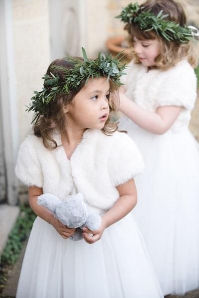 Bruidsmeisjes winter bruiloft