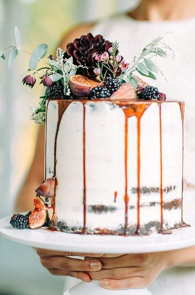 Pinterest foto druipende bruidstaart