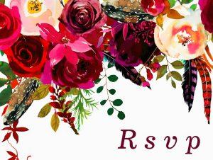 RSVP kaart met bloemen