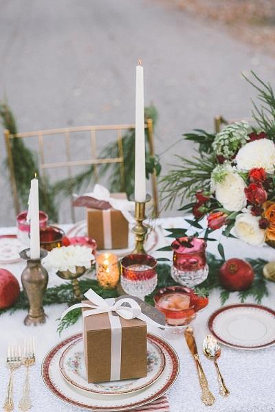 Winter bruiloft tafel