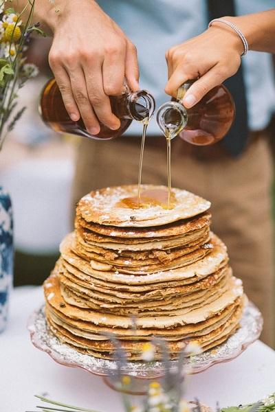 Pannenkoeken bruidstaart met stroop