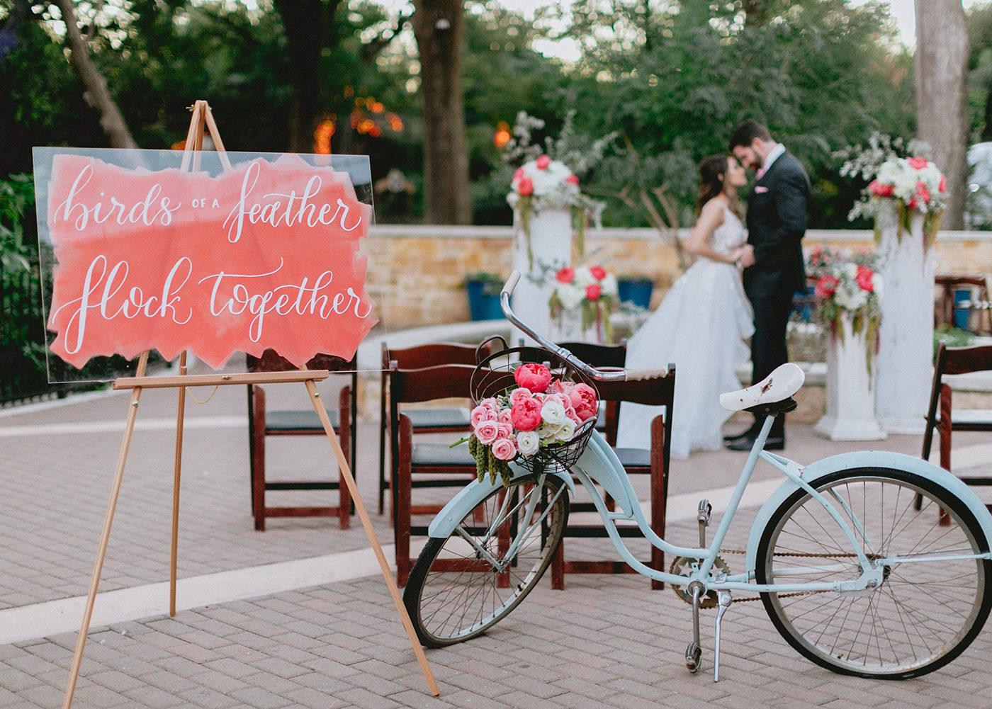 Bruiloft quote op glazen bord
