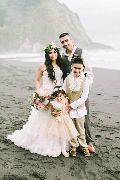 Geloften vernieuwen met gezin op Hawaii
