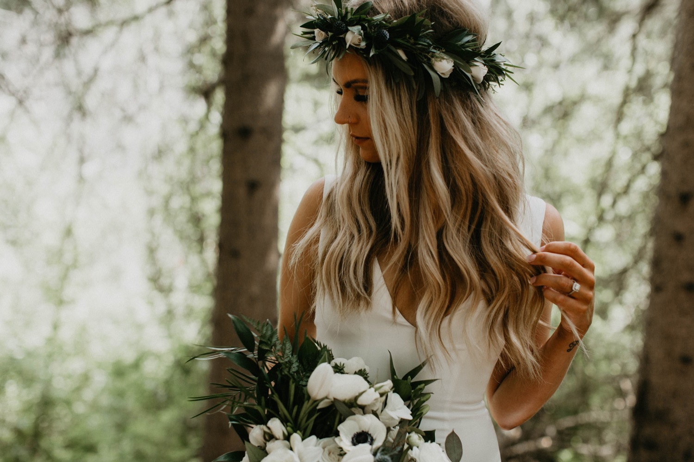Bruid met los haar
