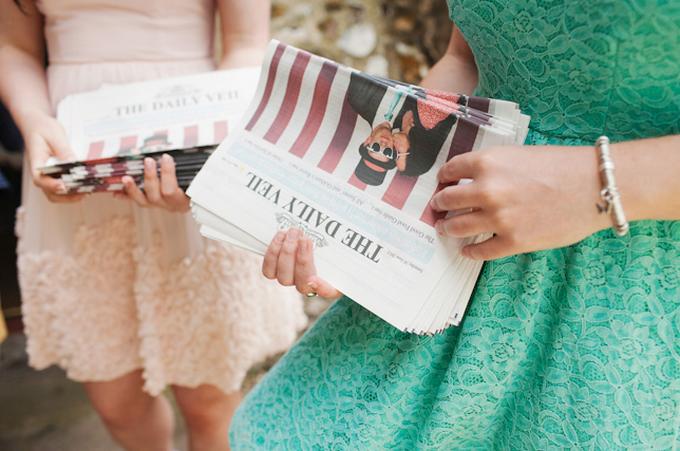 Bruiloft krant
