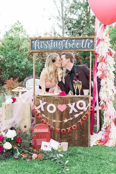 Kissing booth bruiloft