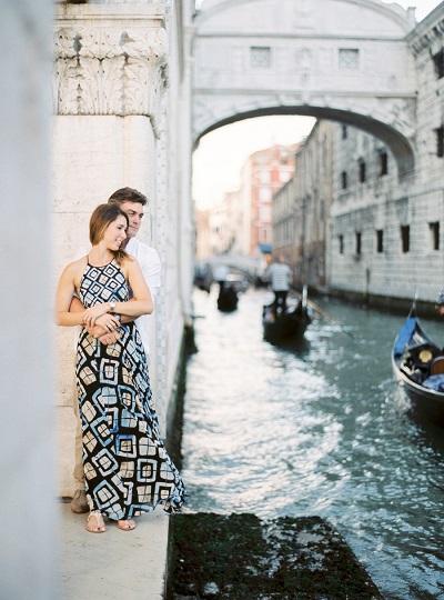Verlovingsshoot in Venetië