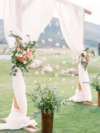 Backdrop met bloemen