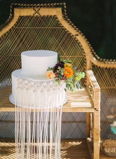 Bohemian bruidstaart