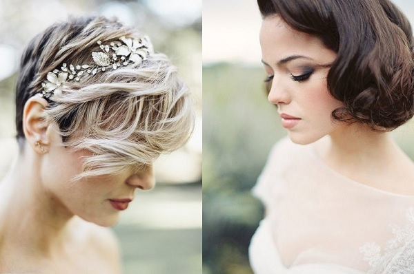 Bruiden met kort haar
