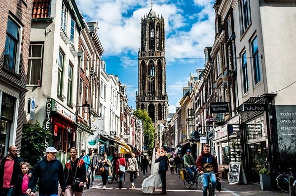 Bruidspaar in Utrecht