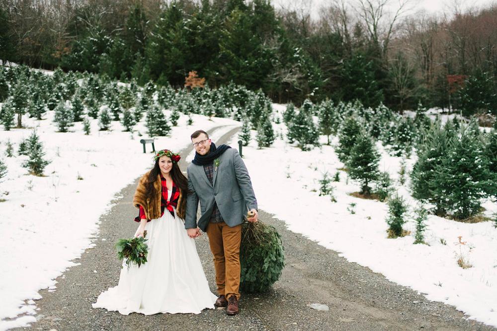 Trouwen met kerst in de sneeuw