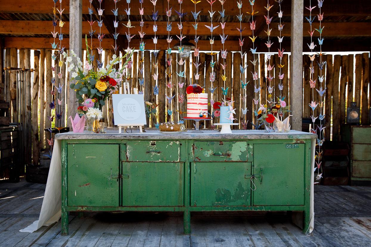 Bruiloft decoratie met DIY kraanvogels