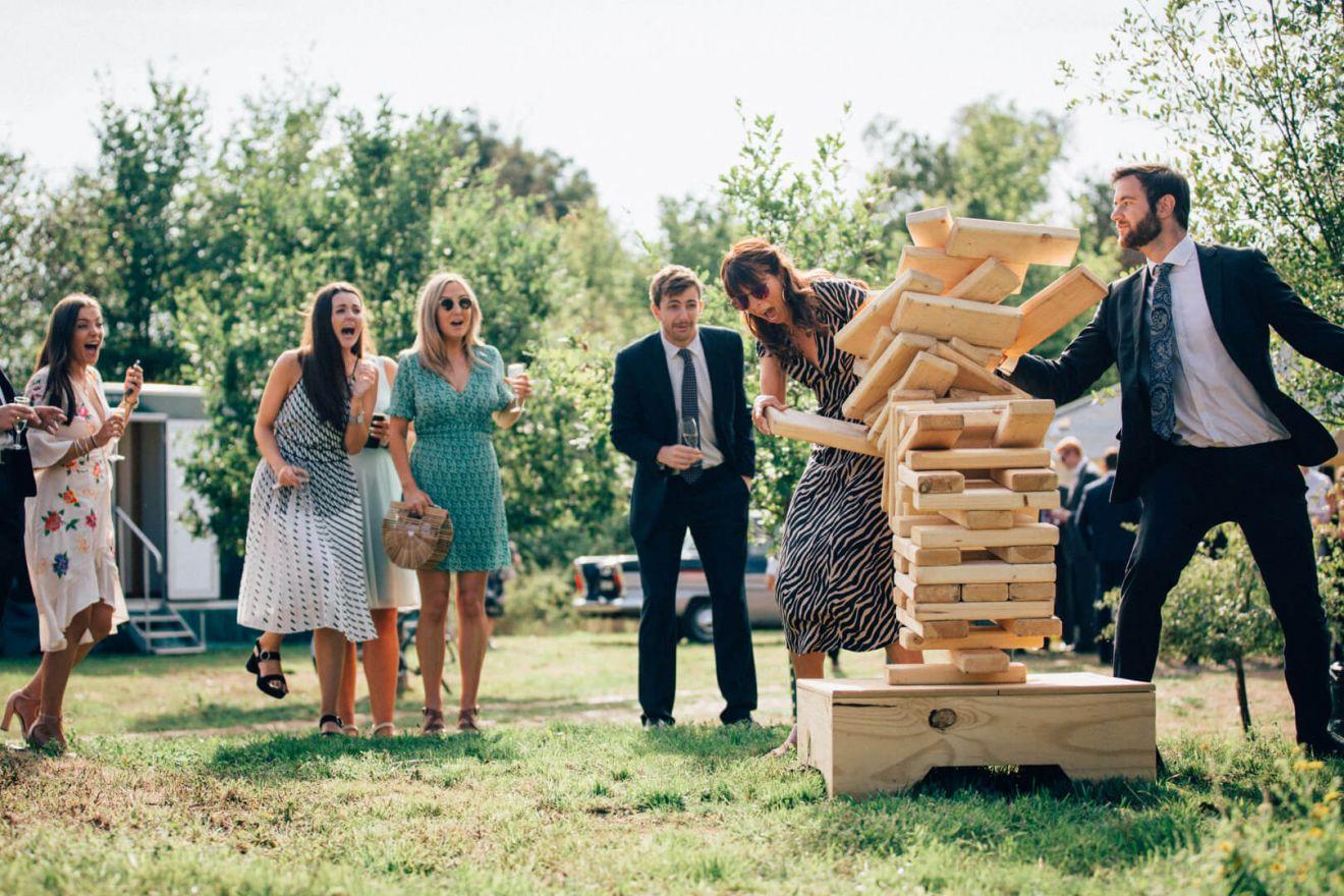 Spelletjes als activiteit op de bruiloft
