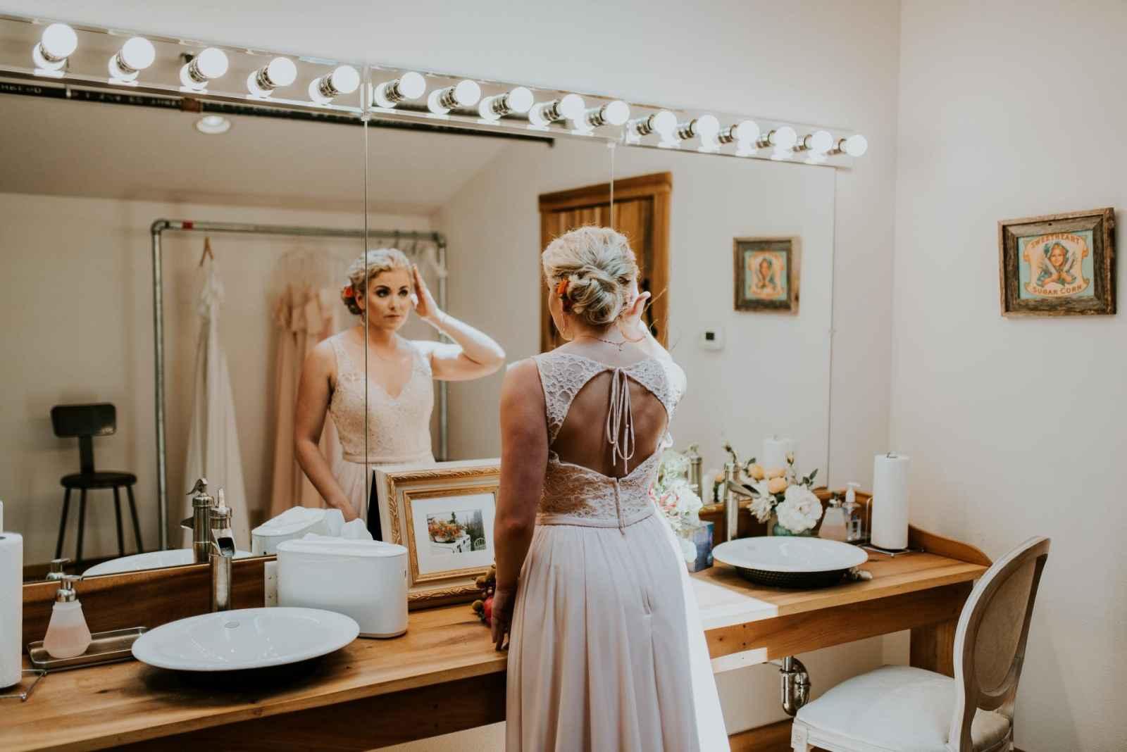 Bruid in de toiletten