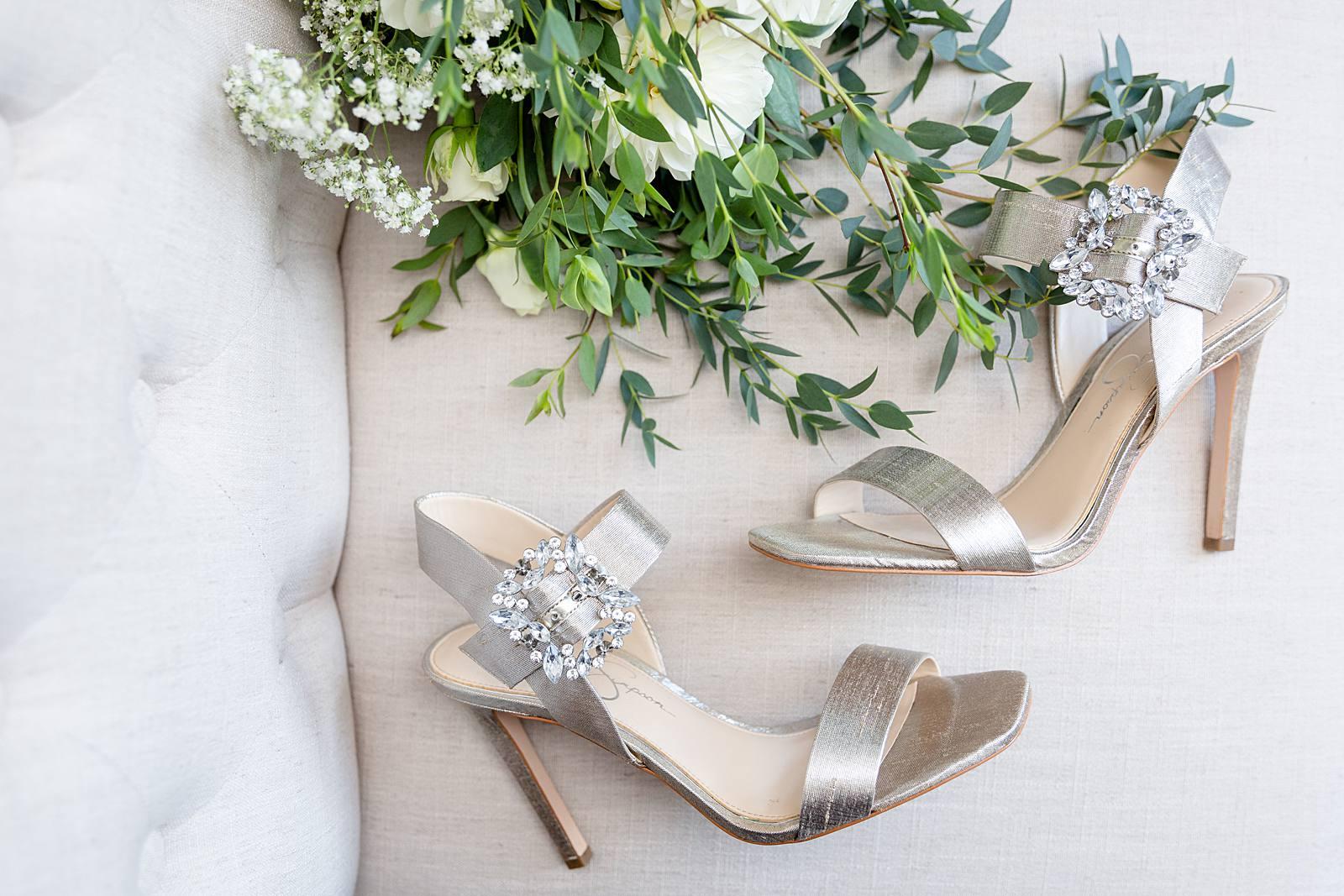 Bruidsschoenen met hoge hakken