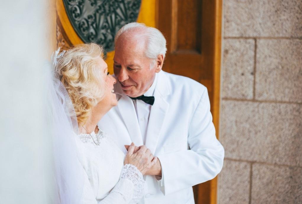 Bruidspaar 50 jarig huwelijk
