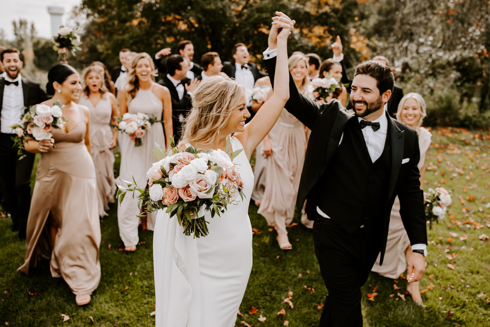 Bruidspaar met gasten