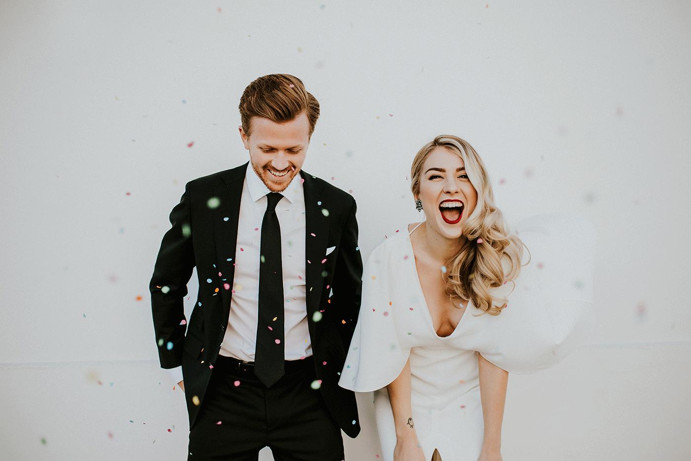 Verrassing voor het bruidspaar