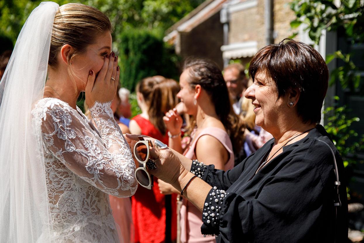 Felicitaties voor de bruid
